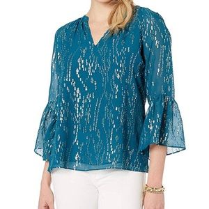 Lilly Pulitzer inky tidal blouse